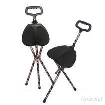 轻便彩转手杖椅/拐杖椅