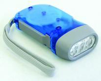 手按發電手電筒LED燈(三顆燈)