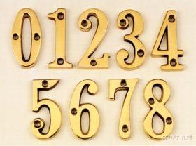 銅製阿拉伯數字