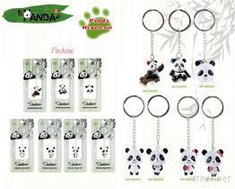 熊貓晃身造型鑰匙圈-兒童安全文具