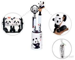 树枝猫熊 + 天使猫熊造型公仔原子笔自动铅笔对笔组