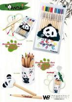 兒童文具熊貓彩色鉛筆