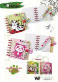 熊貓原子筆+筆記本文具組