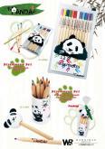 儿童文具熊猫彩色铅笔