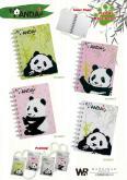 兒童文具熊貓筆記本