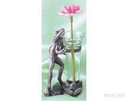 青蛙2003-造型金屬花瓶