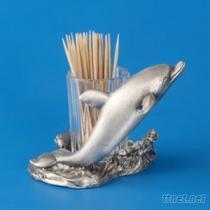 海豚-牙籤罐藝品
