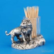 獅子102-牙籤罐藝品
