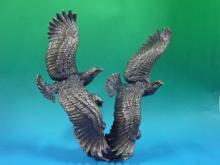 雙飛鷹-擺飾藝品 0310