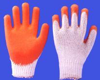 棉紗沾膠手套