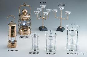 LED油燈, 水晶玻璃燭台, 沙漏