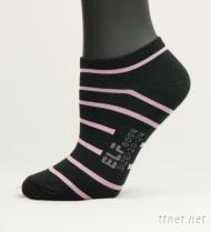 斑马条纹船形女袜