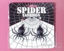 蜘蛛造型耳环
