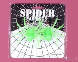 蜘蛛造型耳環
