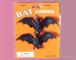 蝙蝠造型耳环