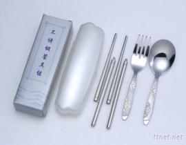 携带式3入餐具组 (塑胶盒)