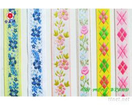 提花織帶, 提花緞帶