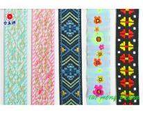 提花織帶, 提花緞帶, 印花織帶