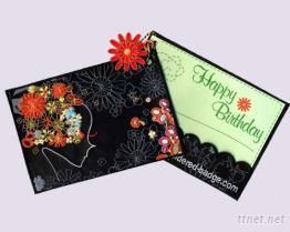 刺繡生日賀卡