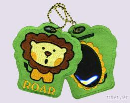 獅子刺繡行李吊牌