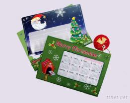 刺繡年曆聖誕卡
