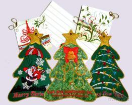 刺繡立體聖誕樹賀卡