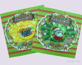 刺繡馬口鐵聖誕賀卡