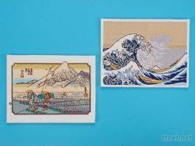 刺繡日本畫-浮世繪