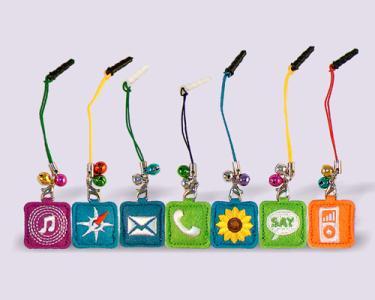 趣味圖案手機刺繡吊飾