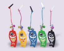 鯉魚旗手機刺繡吊飾