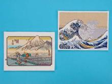 刺绣日本画-浮世绘