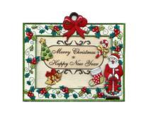 刺繡聖誕卡片