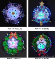 聖誕光纖電子胸針