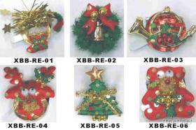 聖誕2燈電子胸針