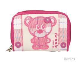 Benbo Bear 賓寶熊~賓妮粉紅格紋小錢包