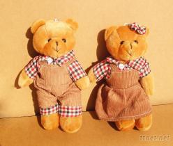 情侶小熊絨毛玩具