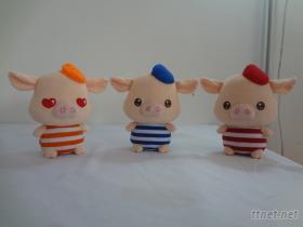 三隻小豬絨毛娃娃
