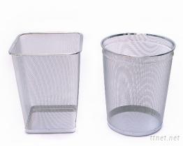 鍍鉻拉網垃圾桶