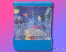 彩色水族箱