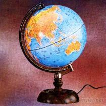 行政/地形兩用觸控式夜光型地球儀