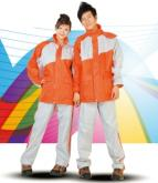 達新牌飛馳型 二件式時尚雨風衣(橘灰色)