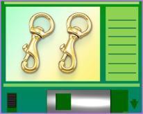 銅製迴轉安全鉤C型