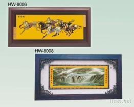 純金箔畫 - 匾額