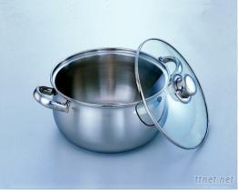 不銹鋼典雅鍋(附強化玻璃蓋)
