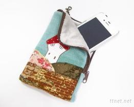 綉花手機袋