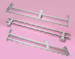 C型手拉雙軌伸縮式窗簾軌道