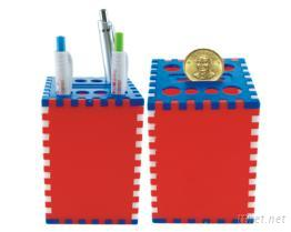 DIY三色筆筒&存錢筒