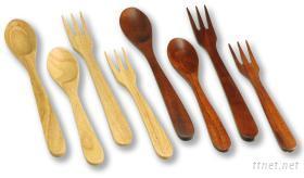 實用木製叉匙