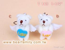 迷你天使泰迪熊-手機吊飾