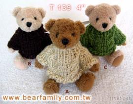 毛衣泰迪熊-绒毛玩具